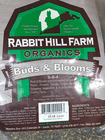 Rabbit Hill Farm Organics Buds and Blooms 15Lb