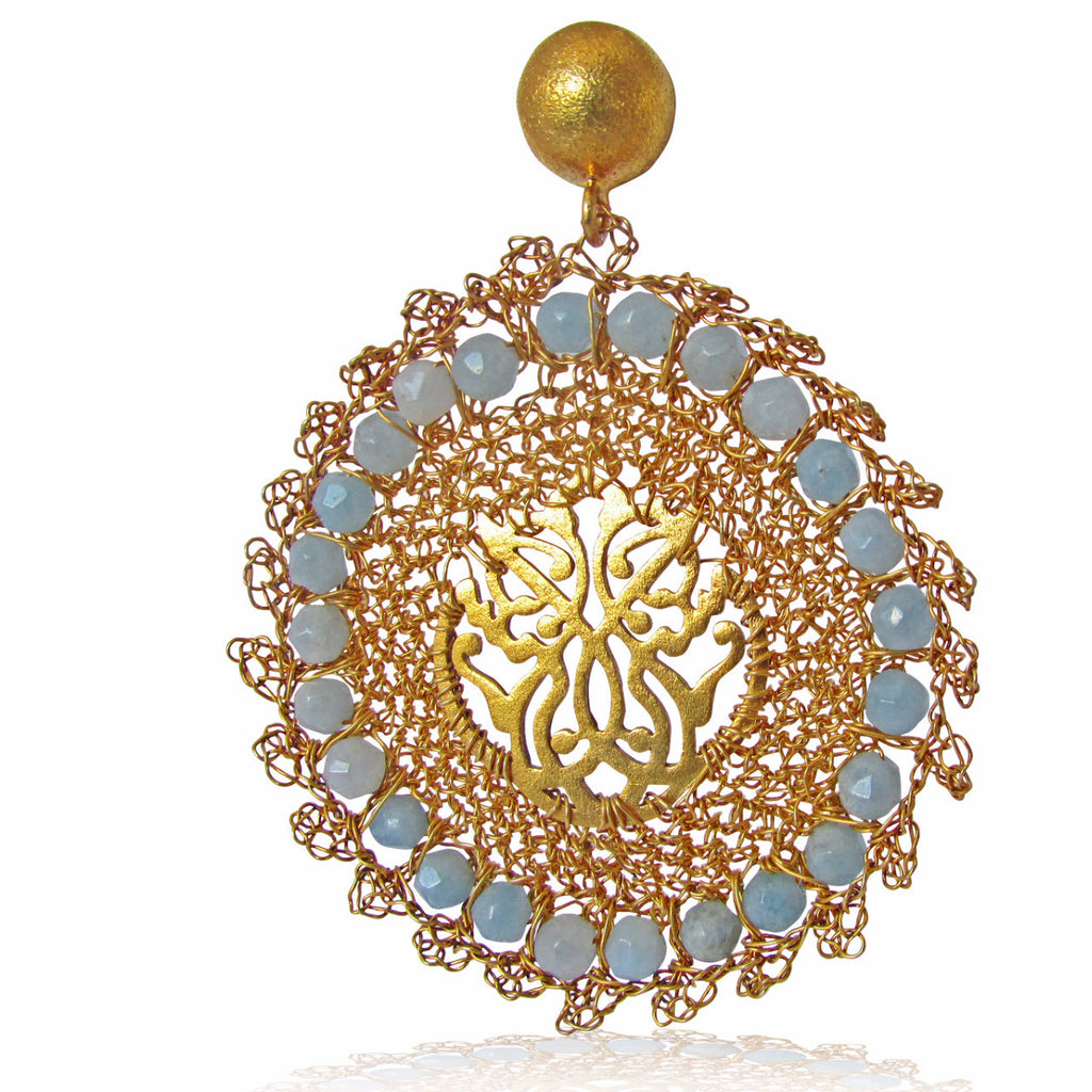 Fai Gold Plated Middle Eastern Earrings