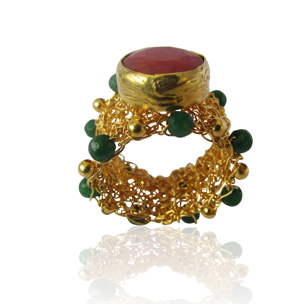 Hapur Gold Plated Sterling Silver Weave Ring
