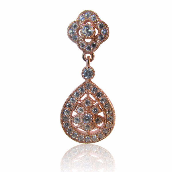 Jaipur Rosegold Plated Drop Earrings