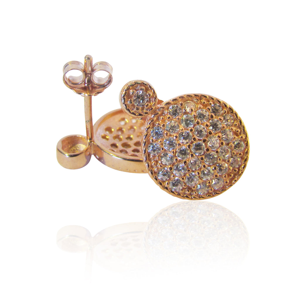 Petra Rose Gold Plated Disc Earrings