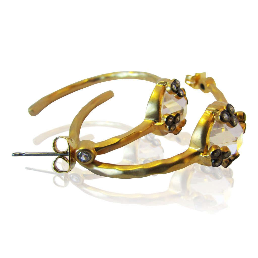Dagmar Gold Plated Hoop Earrings