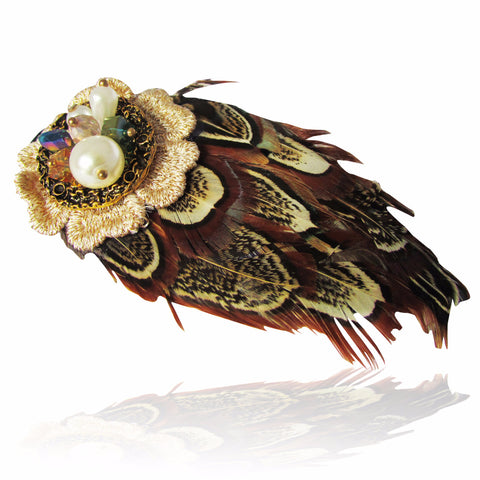 Bijo Feather Hair Slide