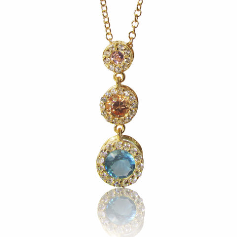 Arinda Gold Plated Sterling Silver Necklace