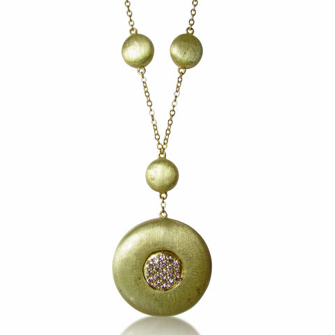 Dalia Gold Plated Sterling Silver Disc Necklace