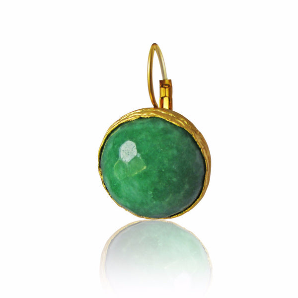 Kinsala Green Gemstone Gold Plated Earrings