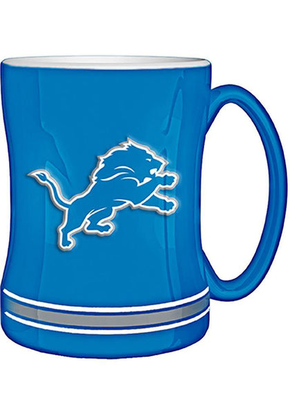 Detroit Lions Blue Sculpted Mug - Detroit Historical Society