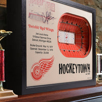 Detroit Red Wings 25-LAYER STADIUMVIEWS 3D WALL ART - Joe Louis Arena - Detroit Historical Society