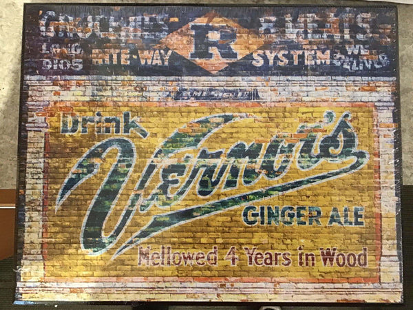 11 x 14 Iconic Detroit Vernors wall- hanging