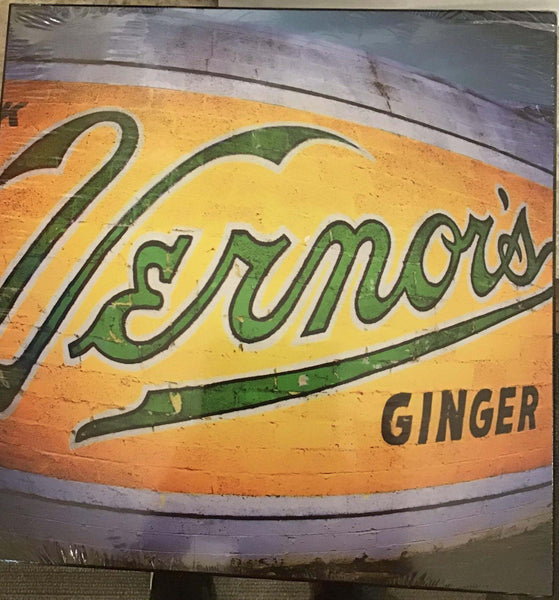 15 x 15 inch Iconic Detroit Vernors Wall Hanging