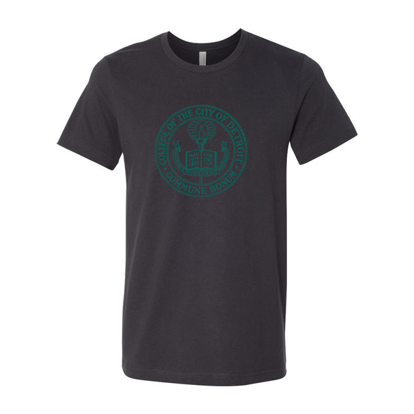 Wayne State University - College of the City of Detroit Vintage Seal T- Shirt - Dark Grey