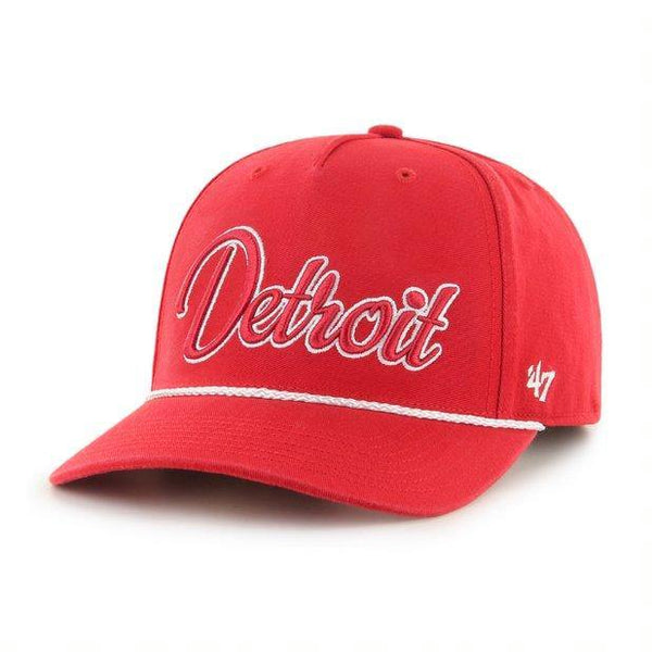 Detroit Red Wings Over Hand Script Rope Hat