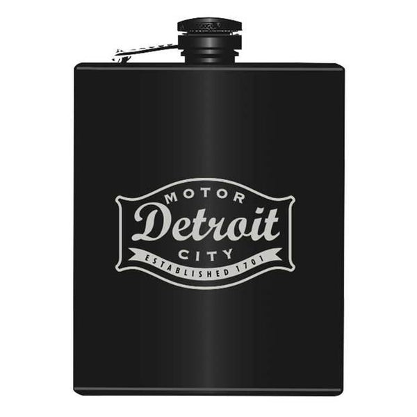 Flask - Detroit Buckle - Detroit Historical Society