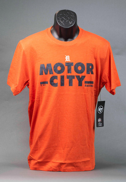 Detroit Tigers Orange Motor City Baseball T-Shirt 47 Brand - Detroit Historical Society