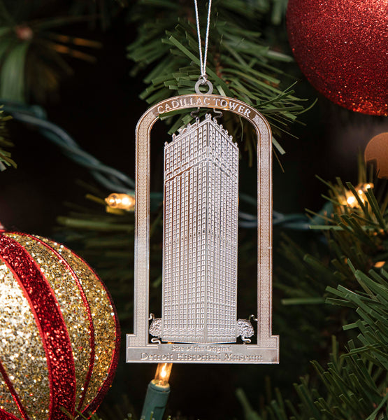 Cadillac Tower Christmas Ornament 2020 edition
