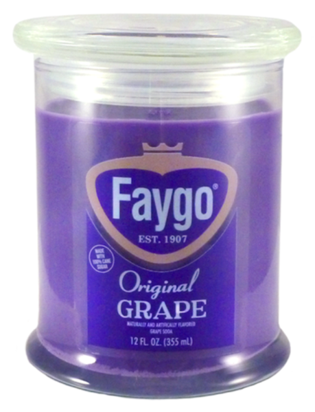 Faygo Candle 12oz 'Grape' - Detroit Historical Society
