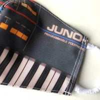 Juno Face Mask, Synthesizer Print. Fitted Two Layer Cloth Face Cover - Detroit Historical Society