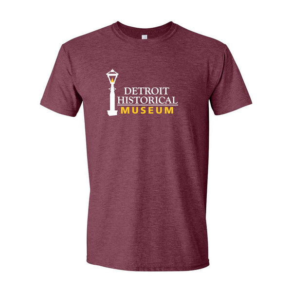 Detroit Historical Museum T-Shirt - Heather Maroon
