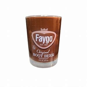 Faygo Root Beer 8 oz candle