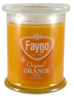 Faygo Candle 12oz 'Orange' - Detroit Historical Society