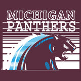 Michigan Panthers Vintage Football T-Shirt - Maroon A