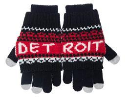 Detroit Gloves Black/Red - Detroit Historical Society