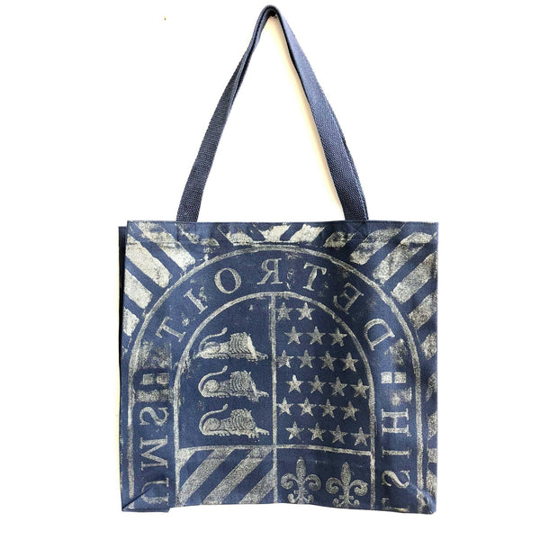 Detroit Historical Museum Manhole Cover Print Tote Bag, Natural Cotton Canva - Detroit Historical Society