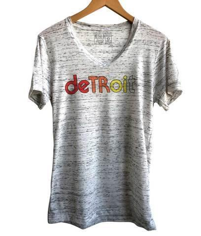 Detroit Rhythm Composer White Marble V-Neck Tee - Detroit Historical Society
