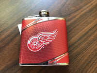Metallic Detroit Red Wings Flask