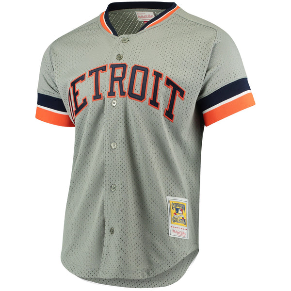 Kirk Gibson Detroit Tigers Mitchell & Ness Cooperstown Collection Mesh Batting Practice Jersey - Gray