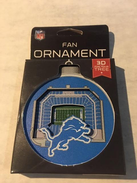 Detroit Lions 3D Fan Ornament - Detroit Historical Society
