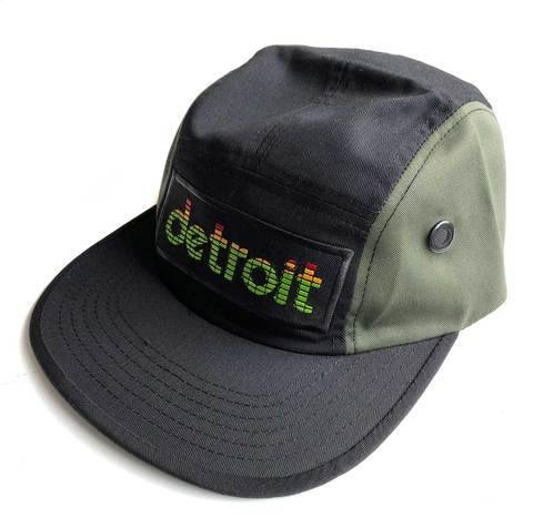 Peak Detroit Military Cap, 5-Panel LED Audio Level Meter Camp Hat - Detroit Historical Society