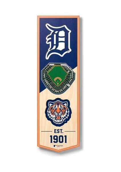 MLB DETROIT Tigers 3D STADIUMView 6 x 19 Banner - Comerica Park - Detroit Historical Society