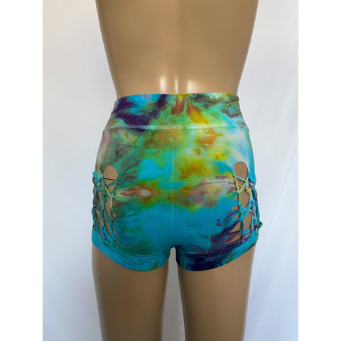Yoga shorts w/ thick waist band - small one of a kind