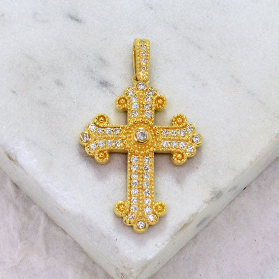 Iced Out Greek Cross