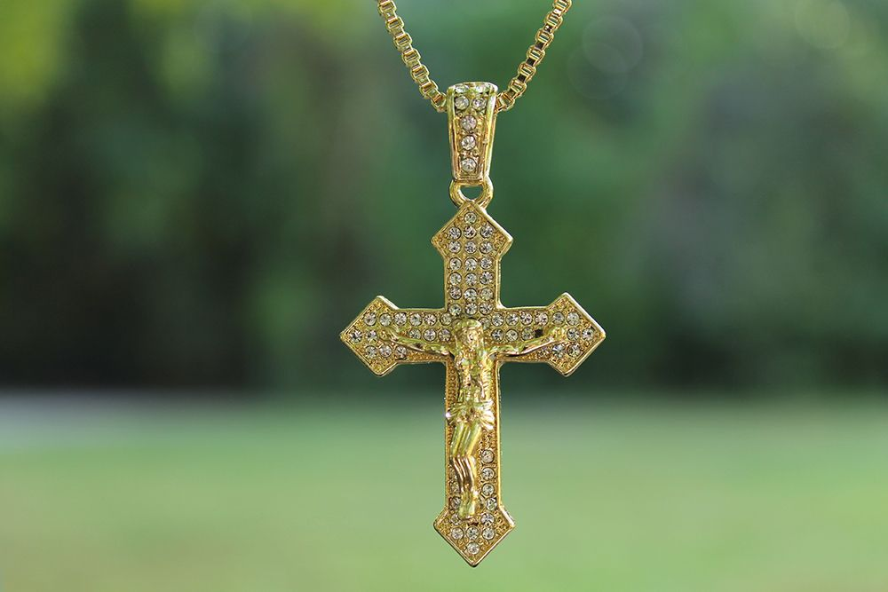Iced Out Crucifix Pendant