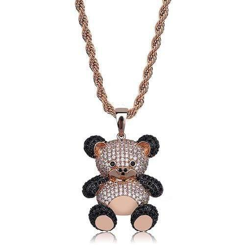 Iced Out Bear necklace