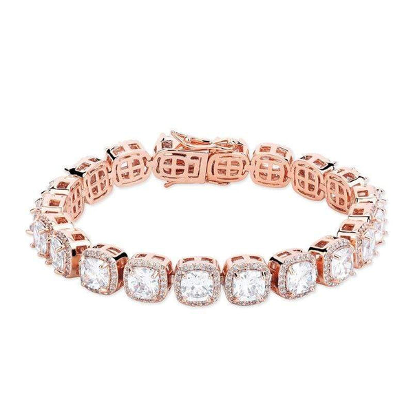 Iced Out Large Stone Tennis Bracelet