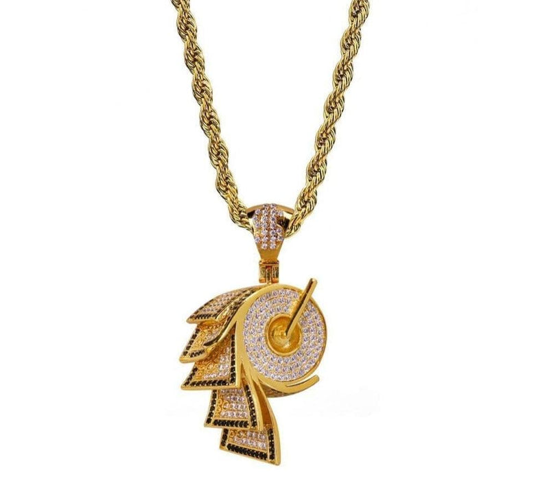 Iced Out Pendant <br> Toilet Paper <br> (14K Gold)