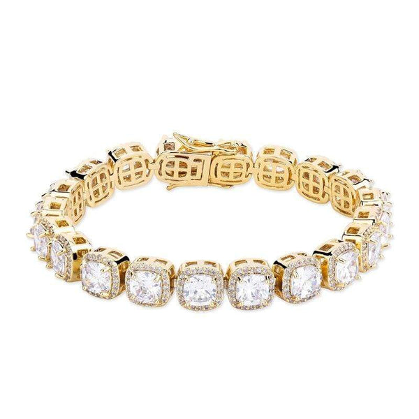 Iced Out Large Tennis Stone Bracelet