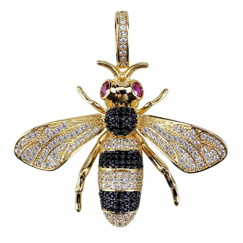 Iced out Bee Pendant