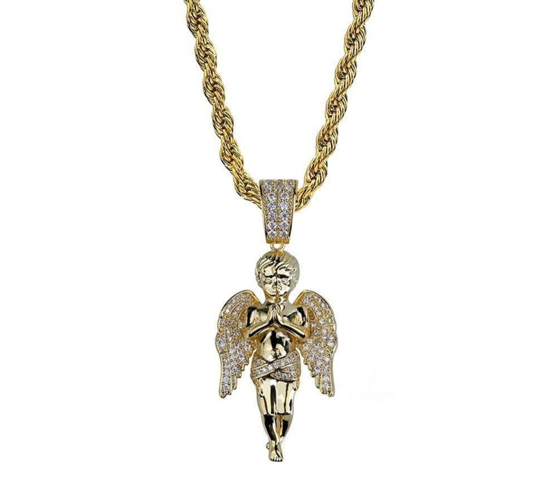 Iced Out Angel Chain