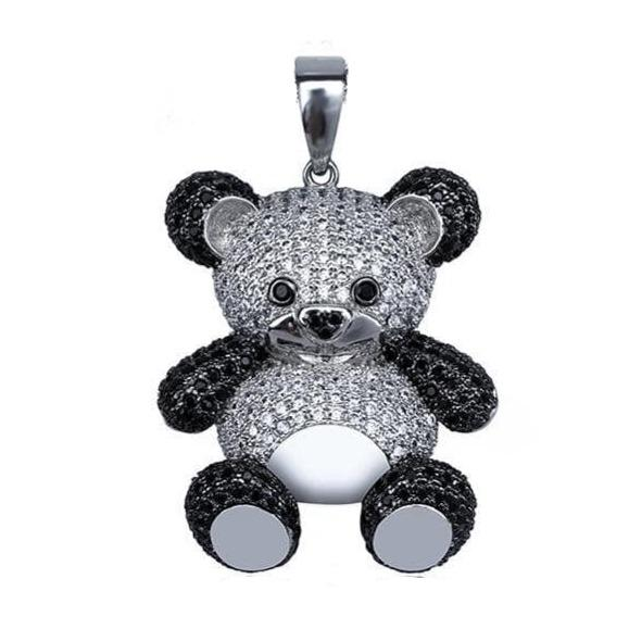 Iced Out Panda Pendant
