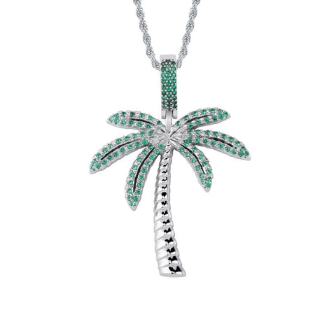 Iced out Palm Tree Chain