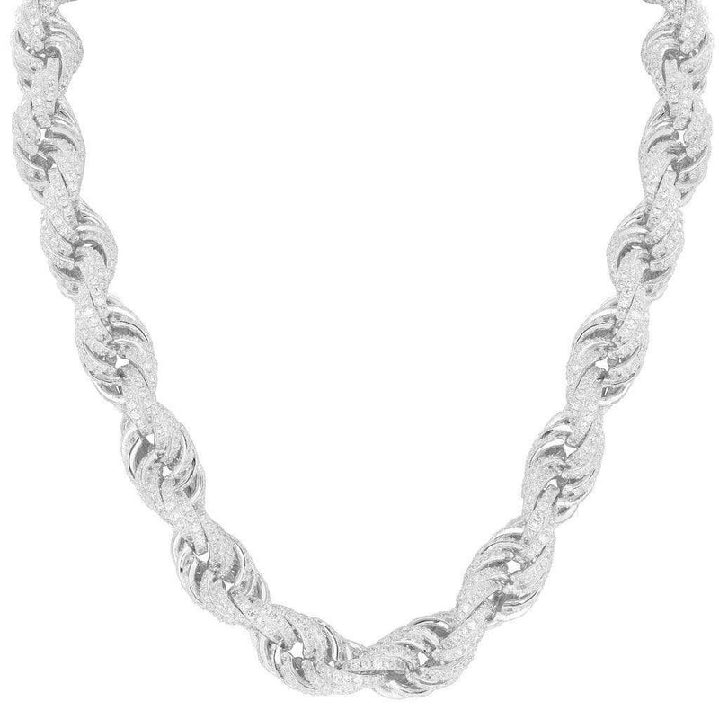 Iced out Rope Necklace