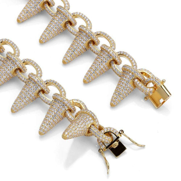 Iced Out Chain <br> Lil Uzi Spiked <br> (18K Gold)