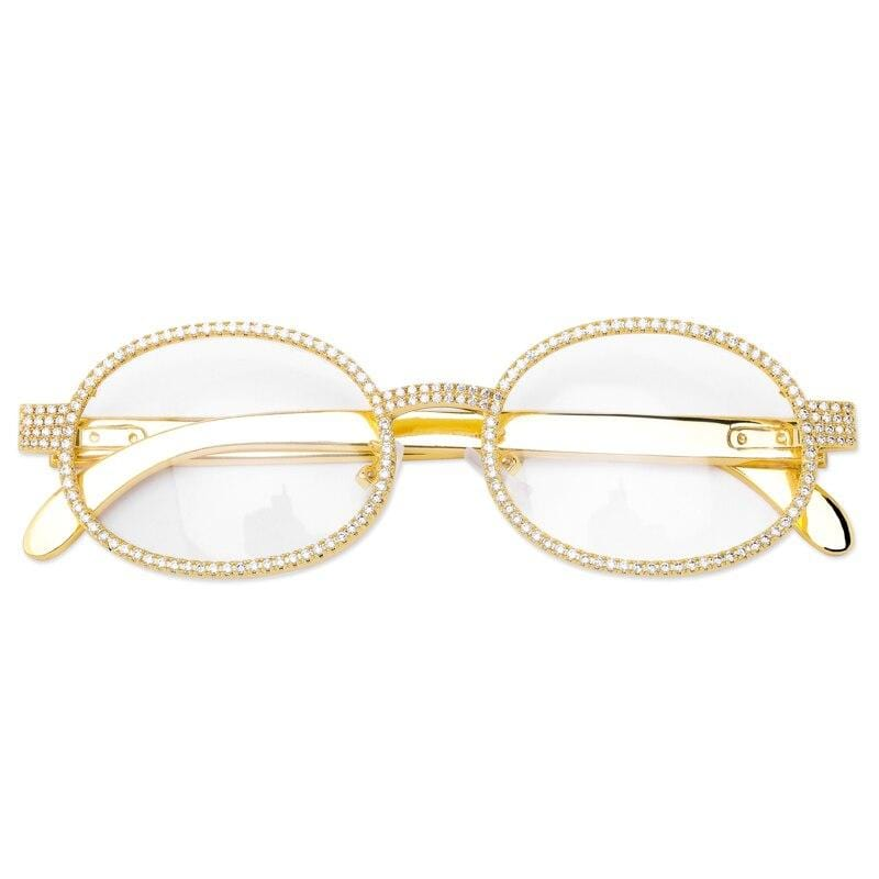 Iced Out Glasses <br> Quavo <br> (14K Gold)