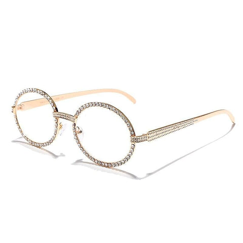 Iced Out Oval Glasses