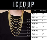 Iced Out Chain <br> Barbed Wire <br> (18K Gold)