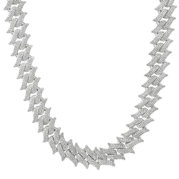 Iced Out Spiked Cuban Chain
